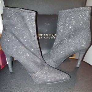 Christian Siriano for Payless glitter bootie